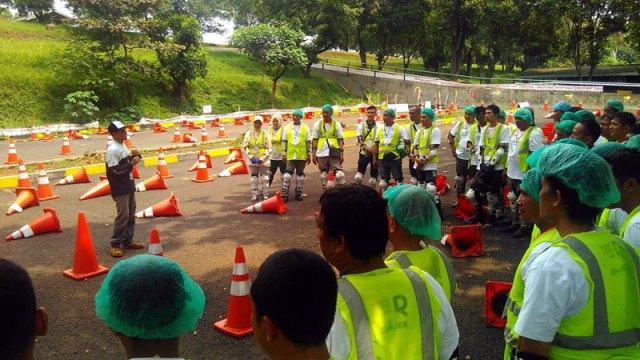 Briefing peserta pelatihan